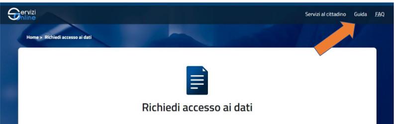 Immagine pagine sito banca italia per fare richiesta online della centrale rischi