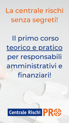 Banner corso centrale rischi per aziende - CentraleRischiPRO